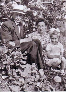 Klaas de Jetske Dreijer met Elsie in 1944