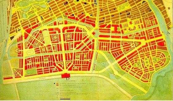 het plan in de versie uit 1915.