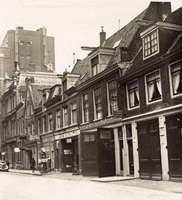 Reguliersdwarsstraat te Amsterdam in 1936- de panden die in 1943 verwoest werden.