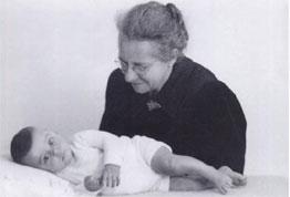 Oma Bongers met Benjamin, 1943