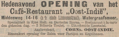 oostindiecafe